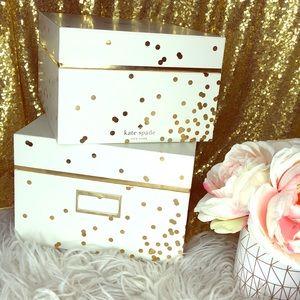 Kate Spade Nesting Boxes Gold Confetti